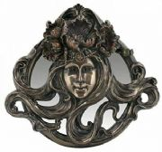 Art Nouveau Stunning Bronze Effect Display Lady Mirror